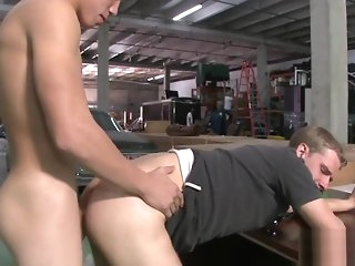 blowjob Scrounger gets team-fucked so lavishly gay