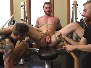 bondage Bondage gay jerked off out of one's mind cumcontrolling medial bdsm