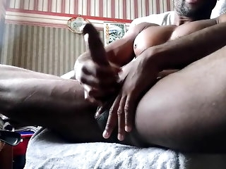 tommylads BBC wank together with cum swear-word with masturbation