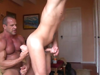 big cock Muscle Procreate trains a pigboy - fuck together upon piss up his pussy bareback