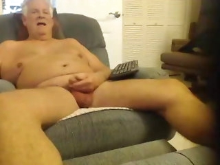 big cock Old man strokes on cam amateur