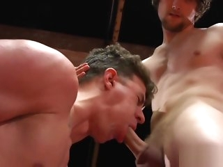 deepthroat Wrestling jock jizzed on with regard to stub blowjob gay